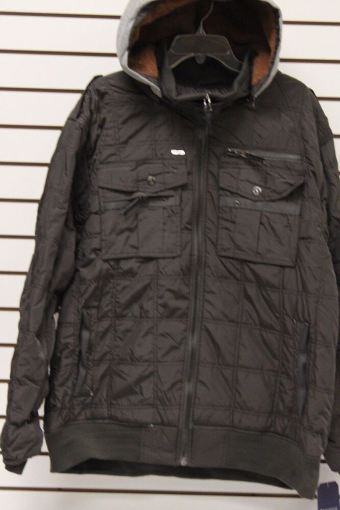 Mens big tall size 5x rocawear detachable hood bomber for Size 5x mens dress shirts