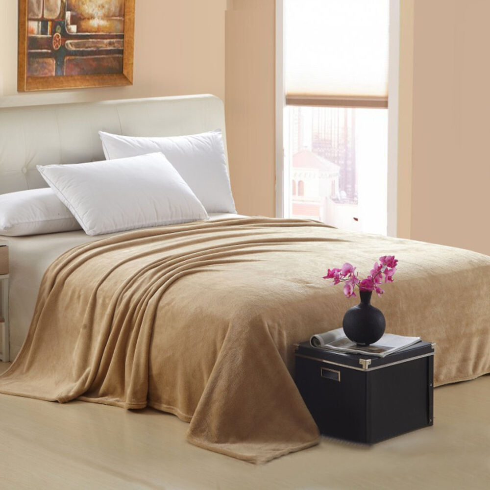 Blanket Sofa Cover: New Warm Super Soft Large Fleece Sofa Bed Cover Blanket