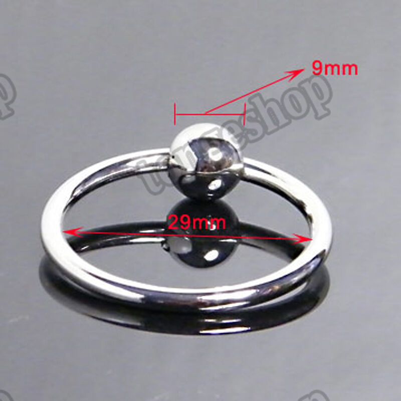 Stainless Steel Glans Ring Impotence Erection Aid Ball  Ebay-1906