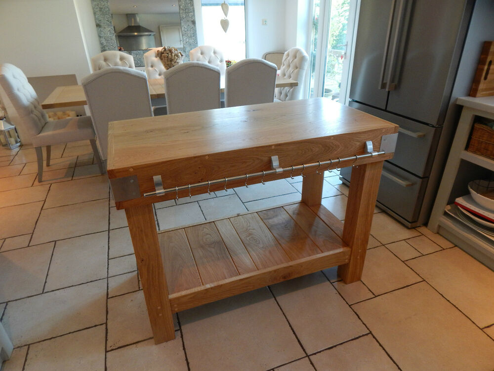 kitchen island table with storage large oak butchers block kitchen island table 24793