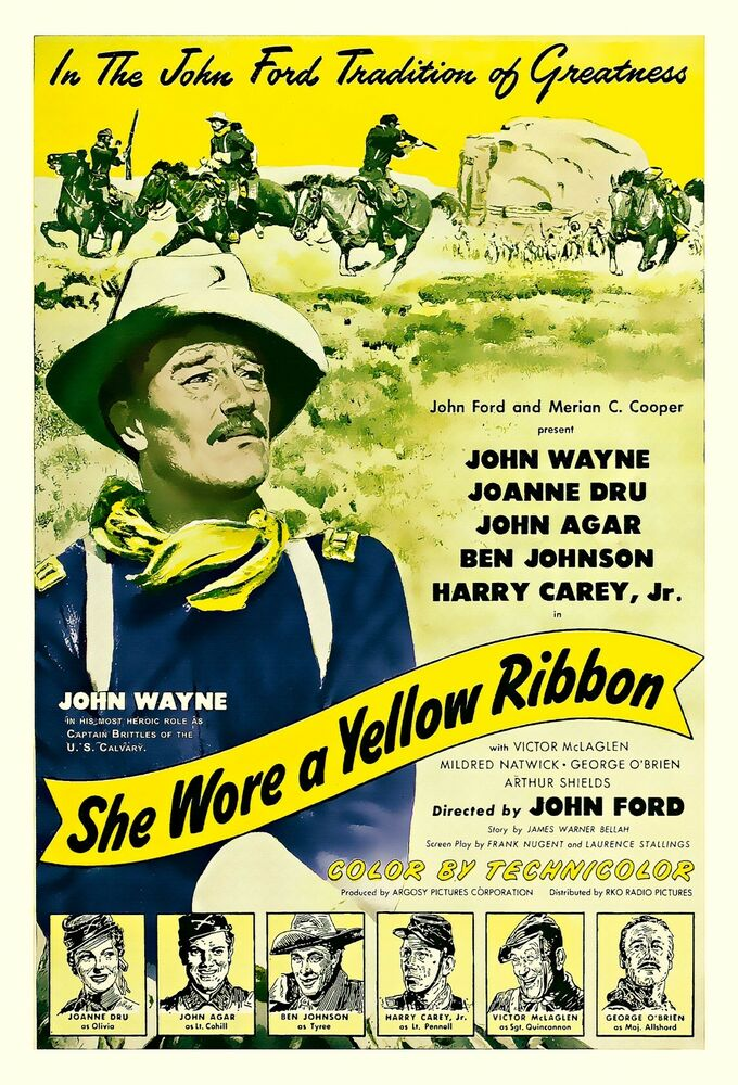 John Wayne movie poster She Wore A Yellow Ribbon | eBay