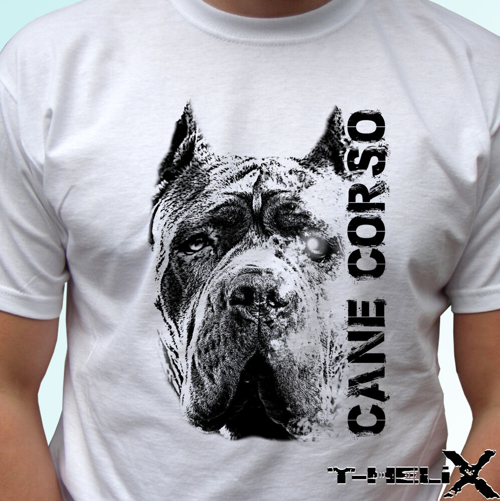 Cane corso head dog t shirt top tee design mens womens for Dog t shirt for after surgery