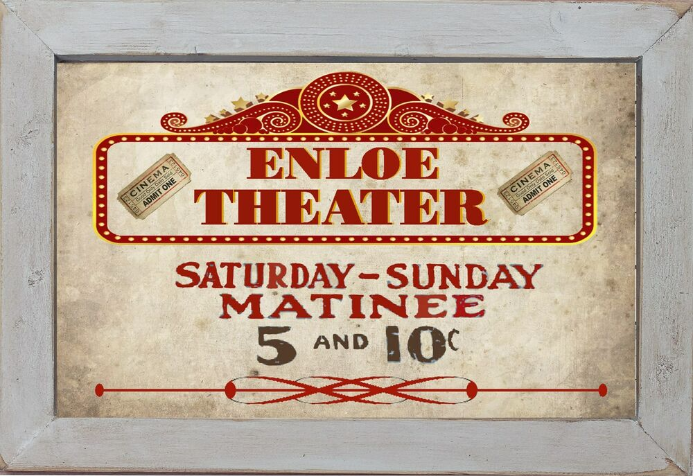Personalized home theater matinee movie cinema home decor for Personalized home decor