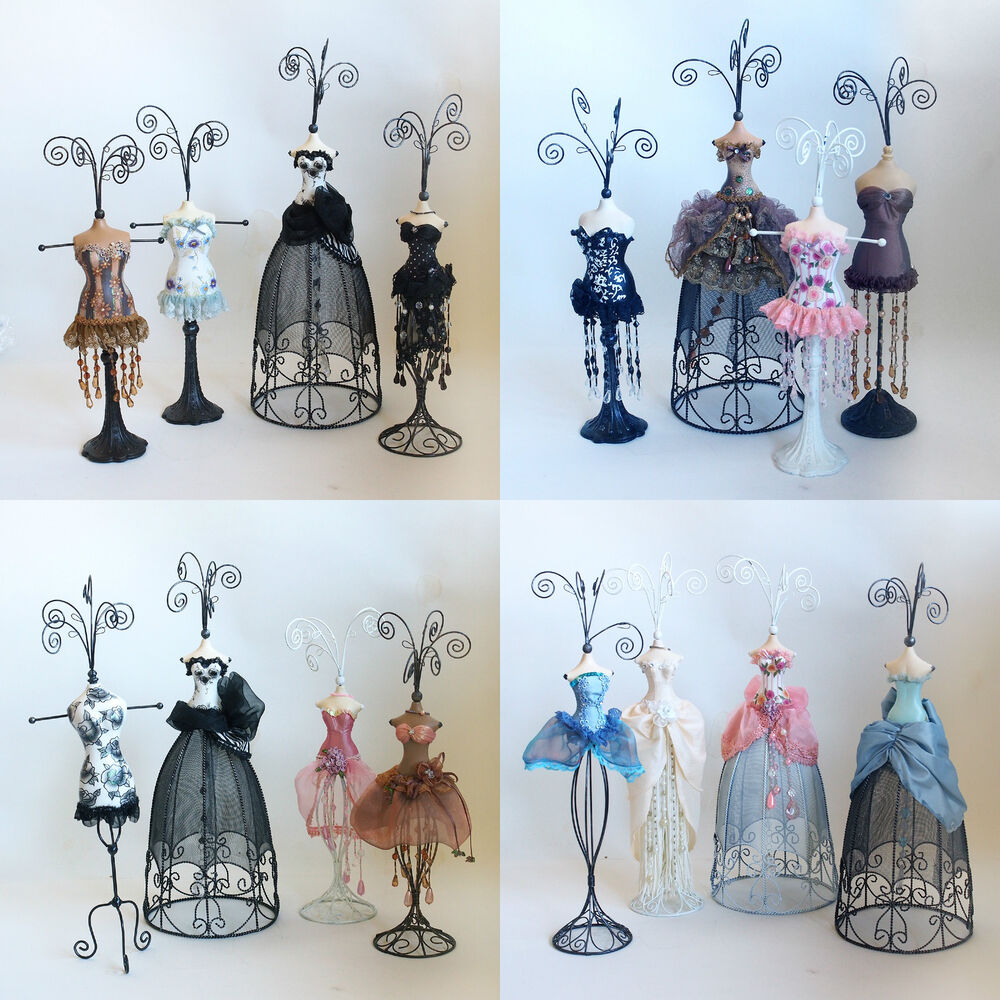 Mannequin jewellery stand necklace earring holder evening for Lady mannequin jewelry holder
