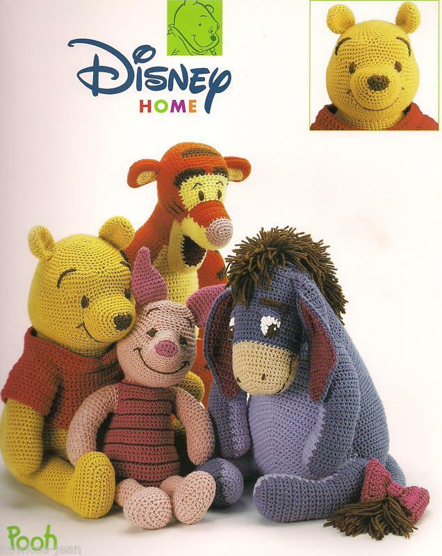 Disney Character Knitting Patterns : Disney pooh friends character dolls crochet pattern booklet piglet eyeore tig...