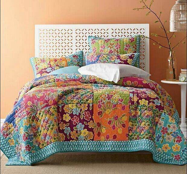 3pc Quilt Bedspread Set Oversized King 100 Cotton Exotic