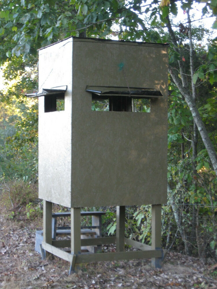 poor man 39 s hunting box blind shooting house build plans