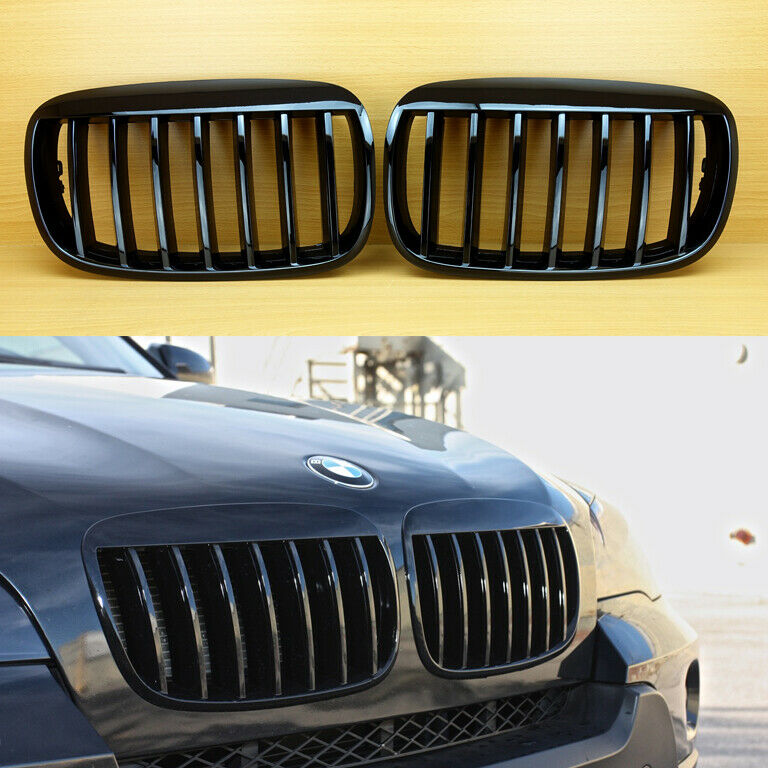 gloss black bmw x5 e70 x6 e71 m nieren k hlergrill sport. Black Bedroom Furniture Sets. Home Design Ideas