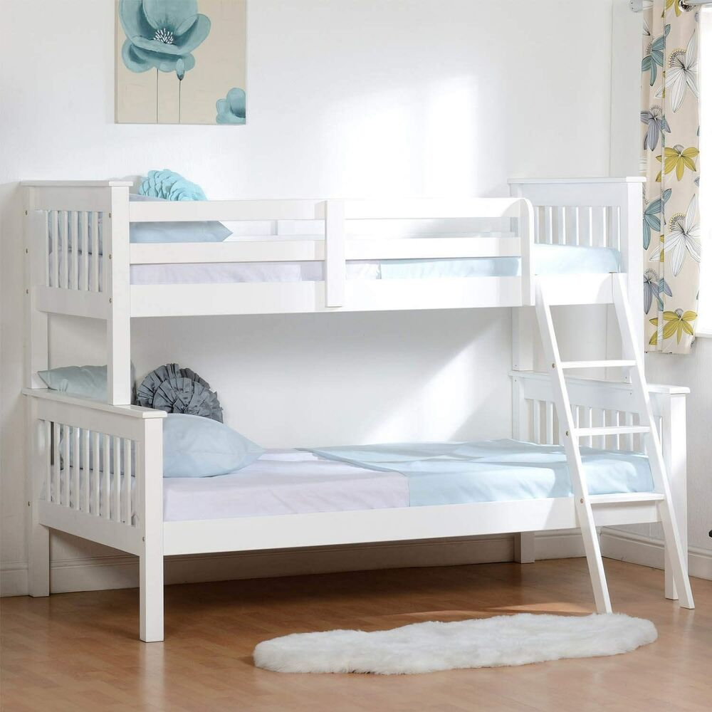 Seconique Neptune White Triple 3 Sleeper Bunk Bed Solid