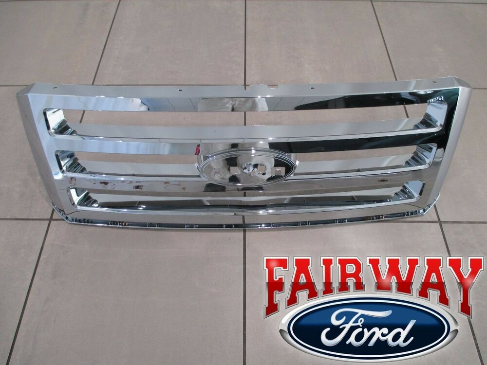 07 thru 14 Expedition OEM Genuine Ford Parts Chrome Grille ...