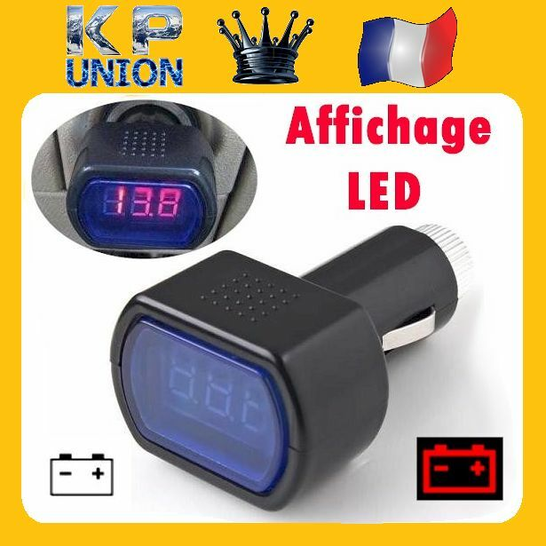 voltmetre testeur de batterie auto voiture camion caravane 12v 24v allume cigare ebay. Black Bedroom Furniture Sets. Home Design Ideas