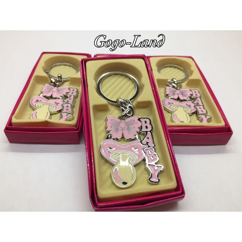 Baby Shower Key Ring Favors ~ Girl baby shower keychains llaveros favors