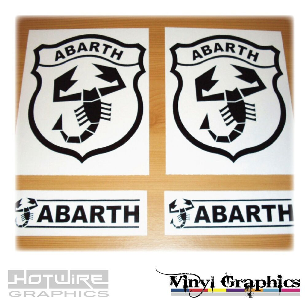 Vinyl Car Decal Sticker Pack Fiat Abarth Scorpion
