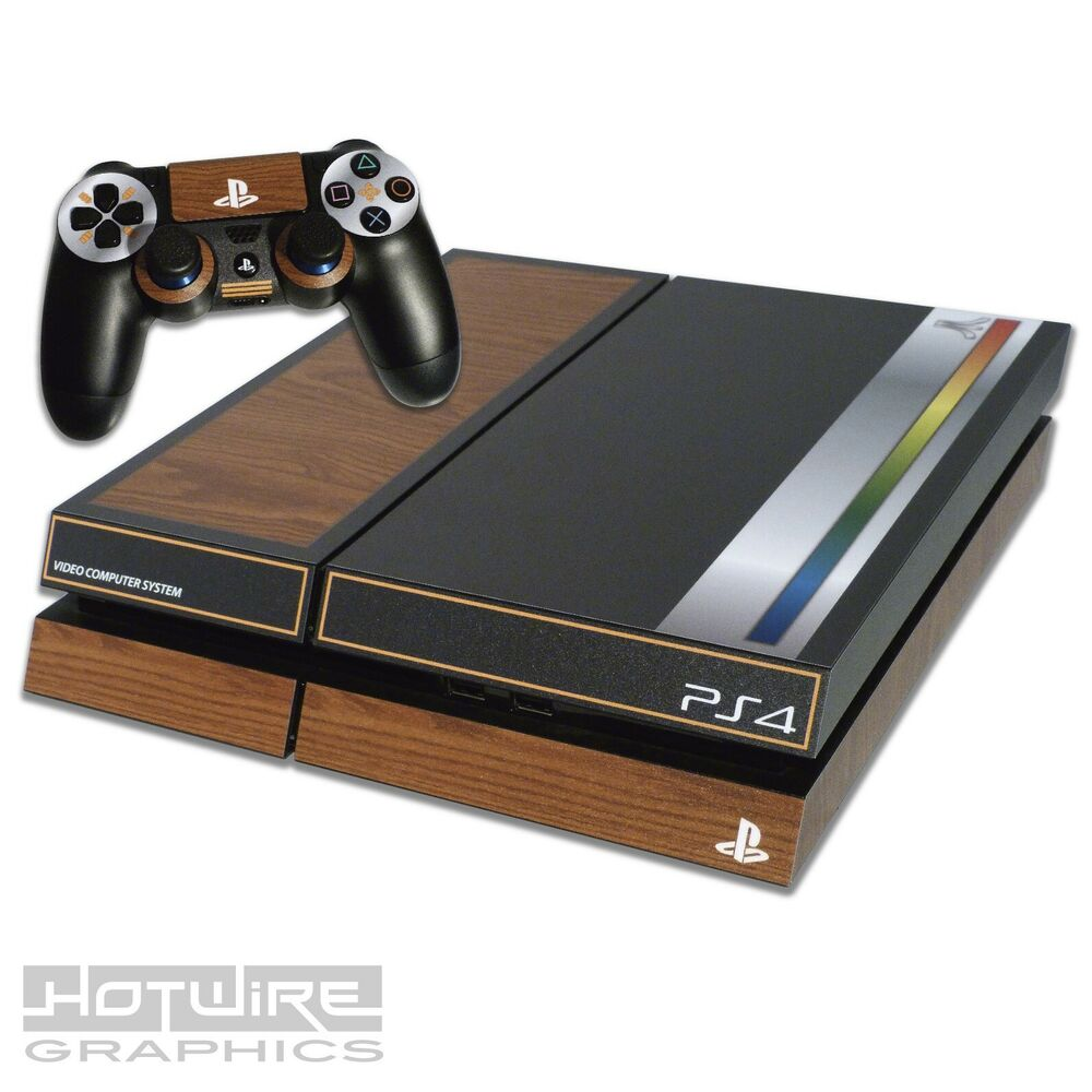 PS4 Pro Playstation 4 Console Skin Decal Sticker Blue