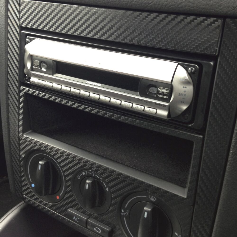 vw golf bora mk4 carbon fibre vinyl centre dash sticker skin kit textured 620444487405 ebay. Black Bedroom Furniture Sets. Home Design Ideas