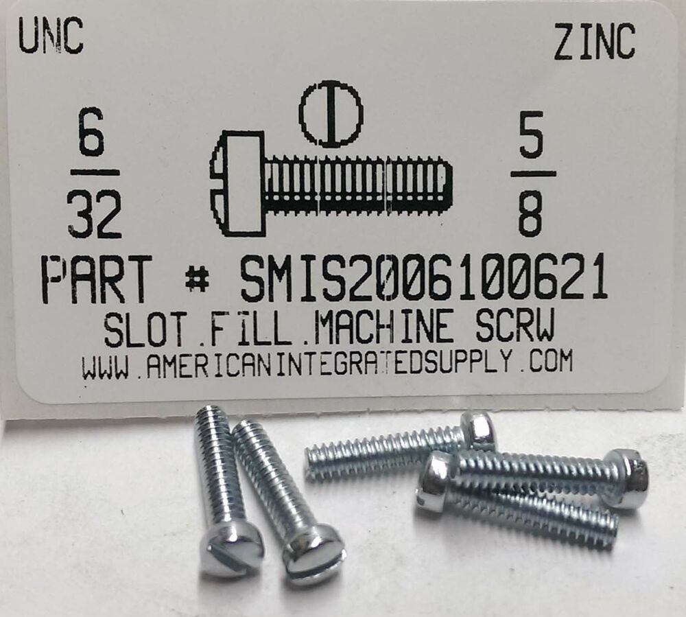6 32 brass machine screws