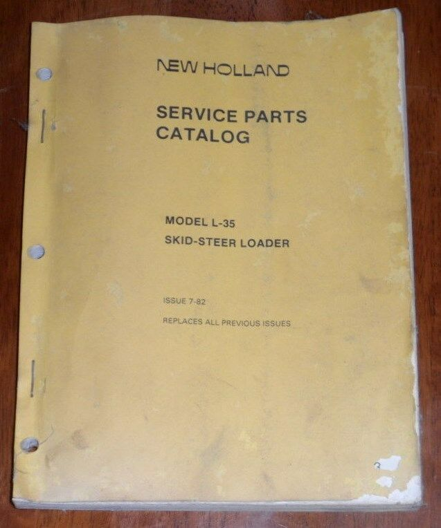 New Holland L35 Skid Steer Loader Parts Manual
