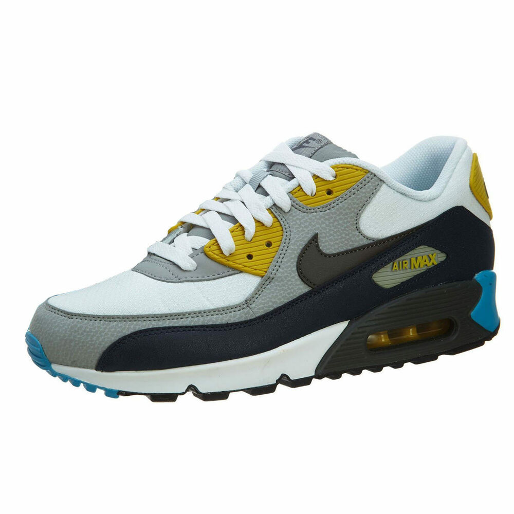 nike air max 90 essential white grey blue mens sneakers. Black Bedroom Furniture Sets. Home Design Ideas