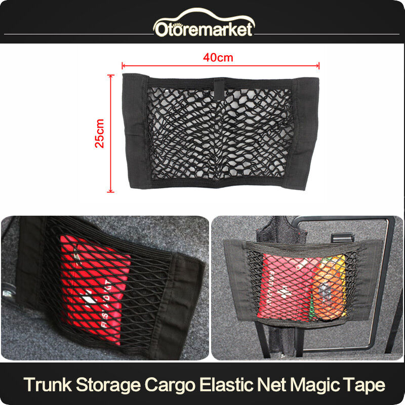 car trunk interior organizer bag rear seat storage mesh cargo net holder pocket ebay. Black Bedroom Furniture Sets. Home Design Ideas