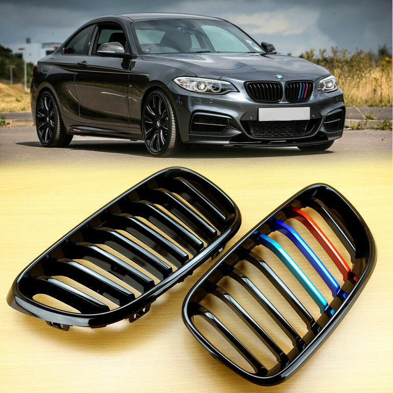 Metal Style Gloss Black M Color Grill For Bmw F22 F23