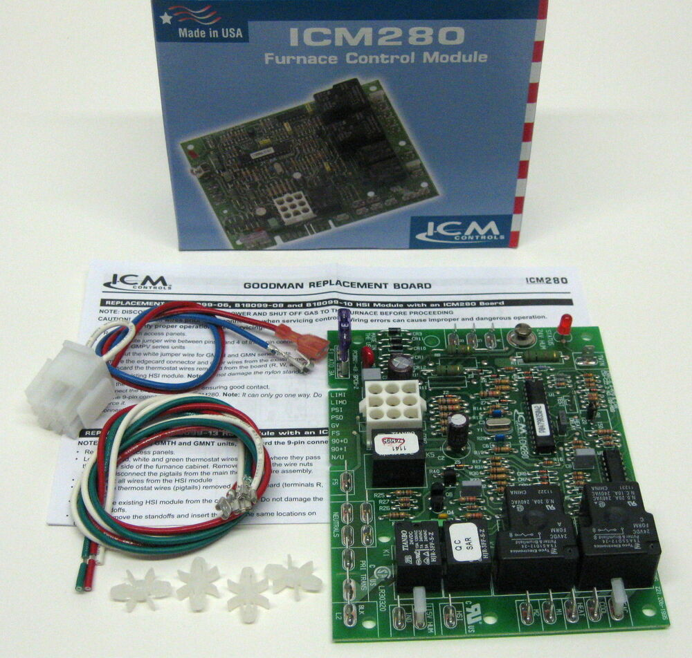 Icm280 Furnace Control Board For Goodman B18099 06 08 Circuit Wiring 10 1012 933d Ebay