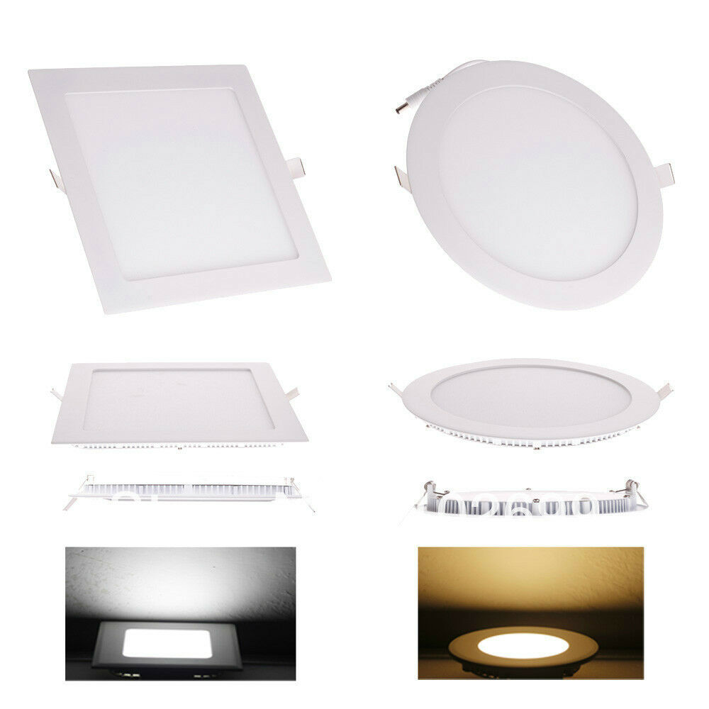 10X ULTRASLIM Round Square LED Recessed Ceiling Panel Down