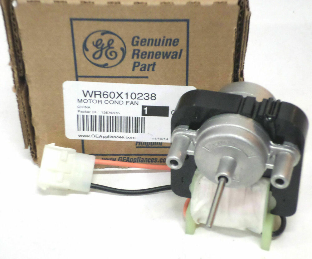 Wr60x10238 ge refrigerator condenser fan motor ap4300562 for Ge refrigerator condenser fan motor not working