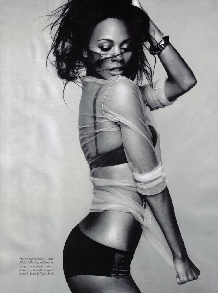 Details about ZOE SALDANA SEXY HOT BLACK AND WHITE 8X10