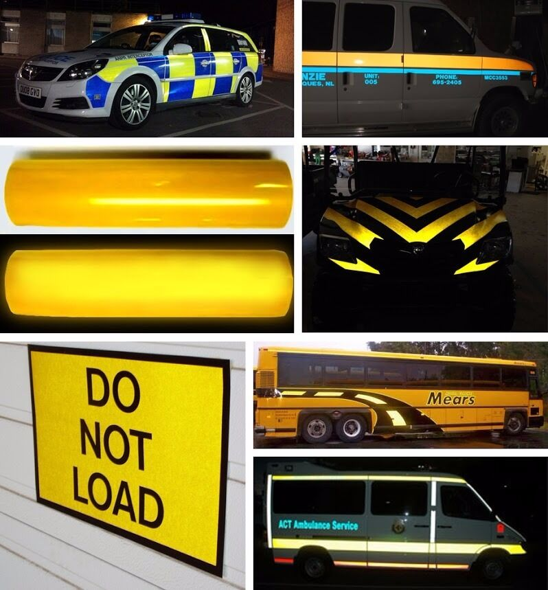 xpo reflective yellow diy vvivid vinyl car wrap decal film 4ft 48 inches wide ebay. Black Bedroom Furniture Sets. Home Design Ideas