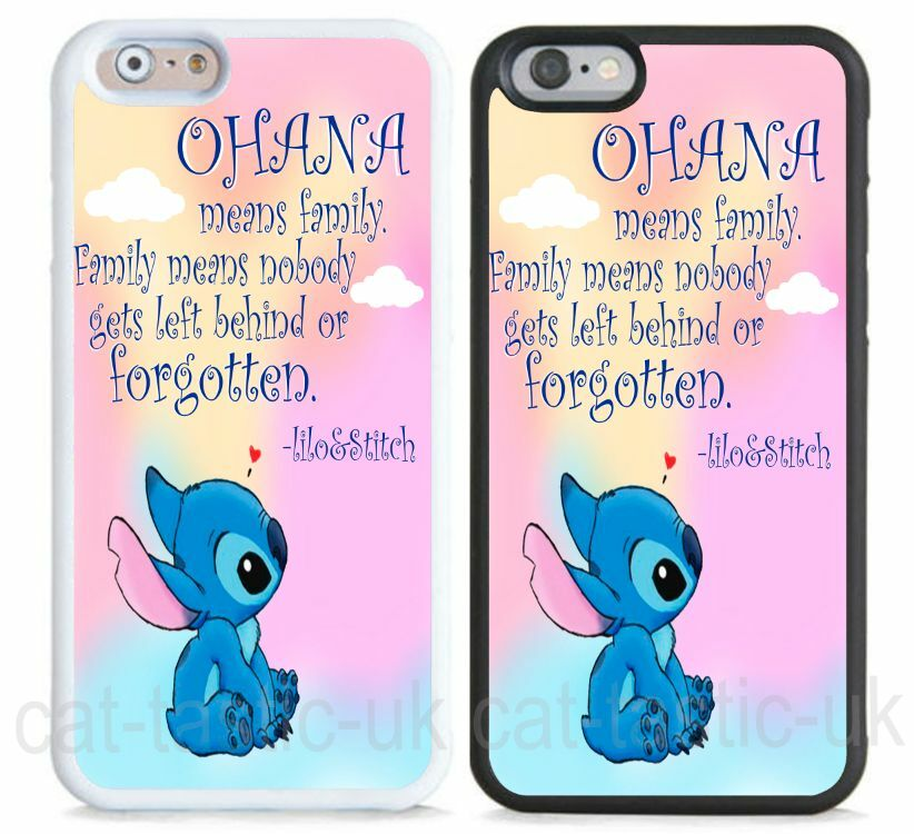 Disney hard case,cover for iPhone,iPod,Lilo And Stitch,quote,Ohana ...