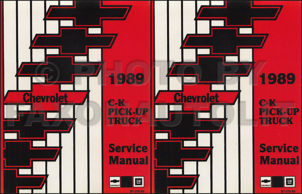 1989 Chevy Ck Truck Shop Manual Chevrolet Cheyenne