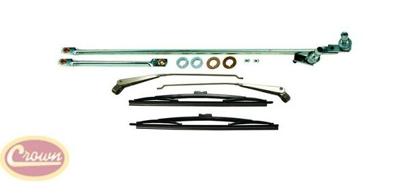 windshield wiper linkage kit w  arms and blades  1976