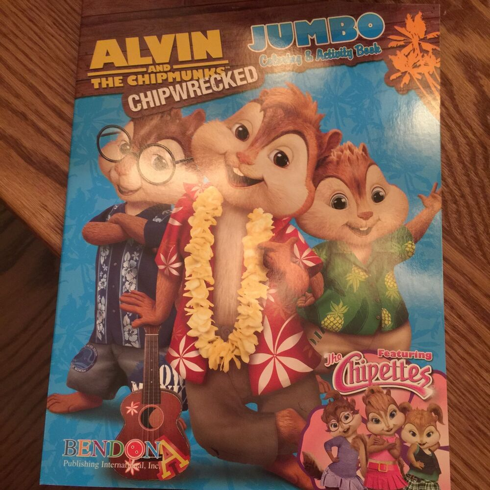 Alvin And The Chipmunks Chipwrecked Jumbo Coloring And