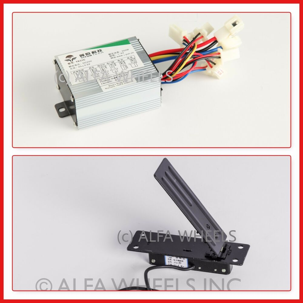 350w 24v kit speed control box foot pedal throttle f for Electric motor control box