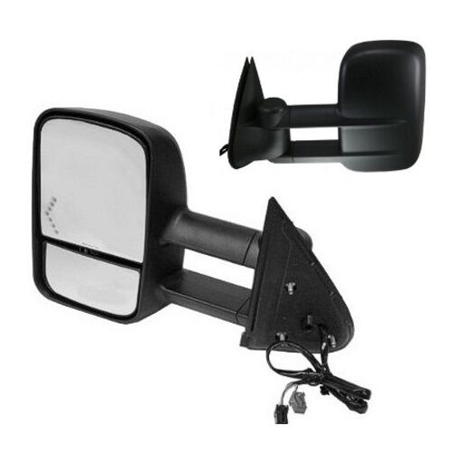 2003 2004 2005 chevrolet silverado driver side tow extending mirror w signal ebay. Black Bedroom Furniture Sets. Home Design Ideas
