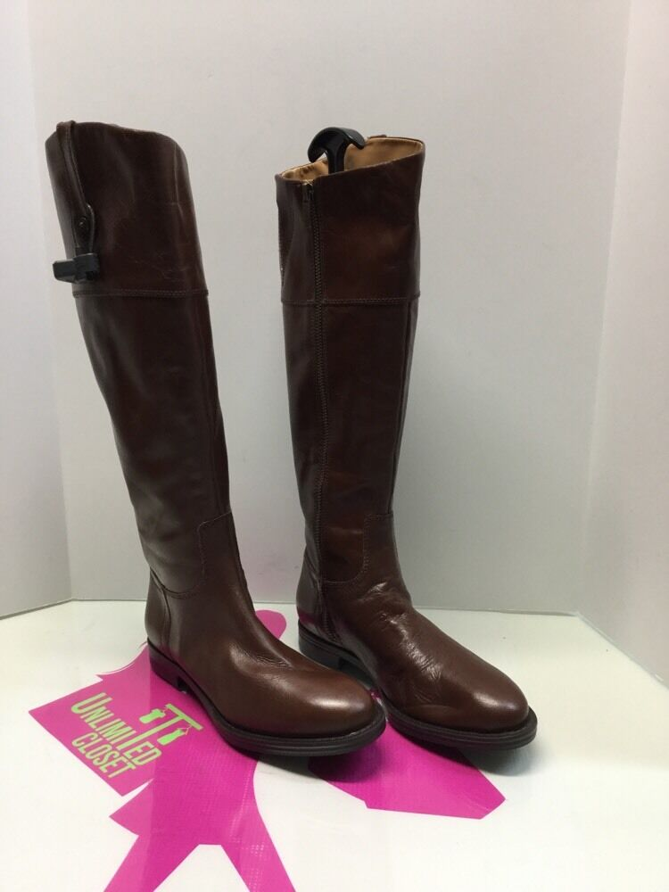 enzo angiolini brown leather knee high eaellerby