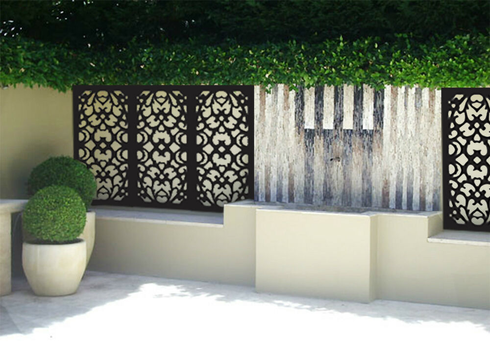 Super sale 5 pack indoor outdoor garden decorative privacy for Outdoor decorative screens