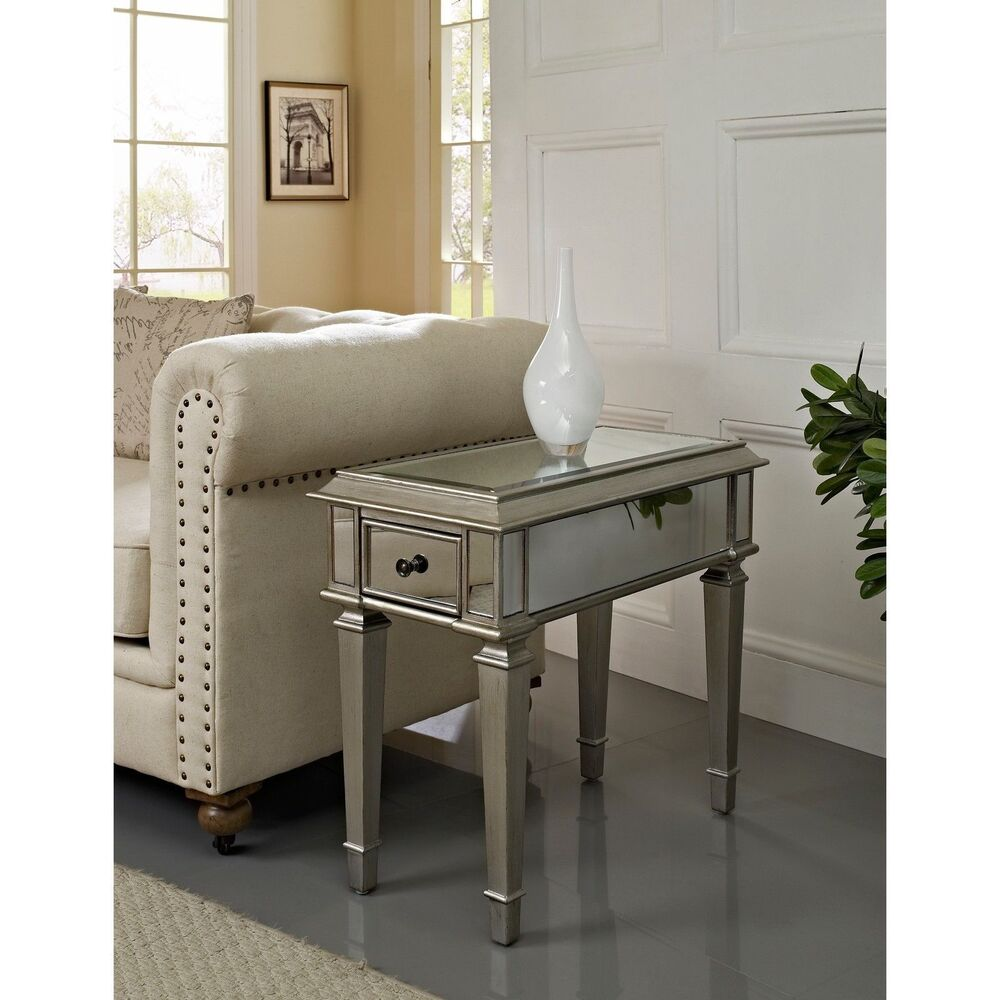 Home Bethany Mirrored Side Table Furniture Living Room