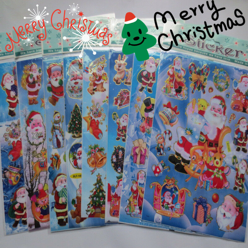 Christmas Wall Decoration Crafts : Cm christmas stickers kids xmas craft card making