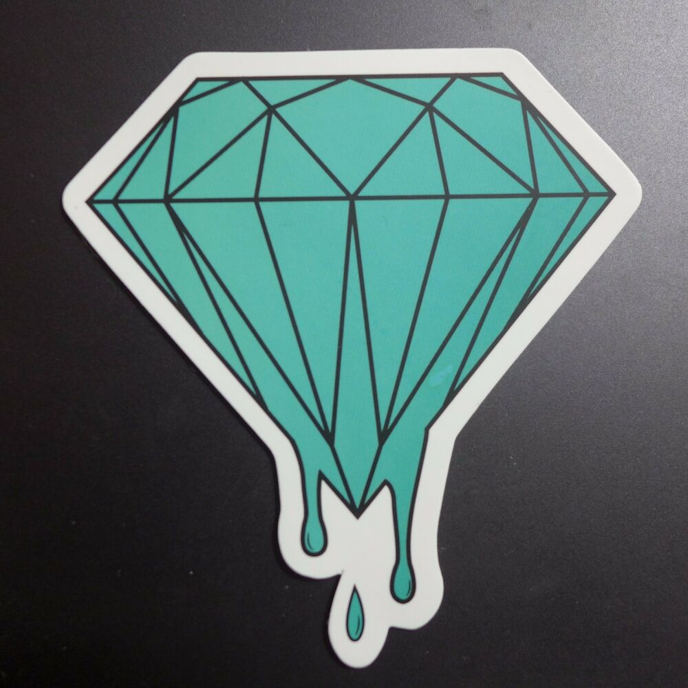 Tiffany Blue Melting Diamond Sticker Guitar Skateboard Car
