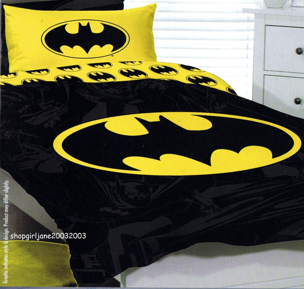 Batman Yellow Dc Comics Single Us Twin Bed Quilt