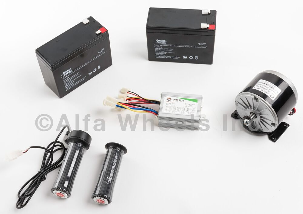350w 24v dc electric motor kit w sla batteries speed for Dc motor speed controllers