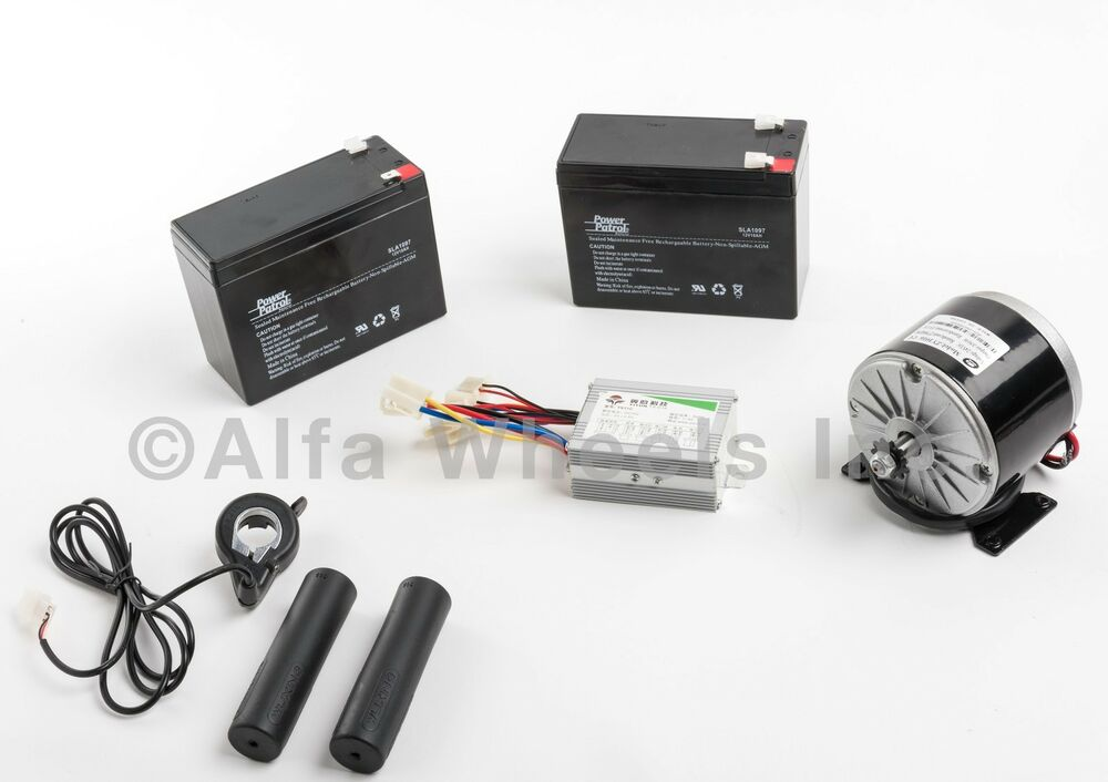350 w 24 v electric motor kit w batteries speed control for Electric motor control box
