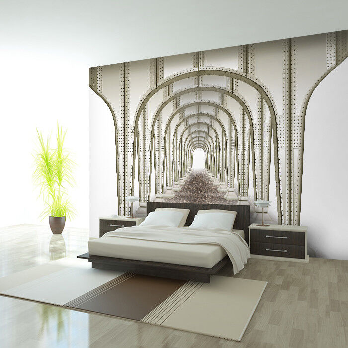 fototapete vlies tunnel tapete tapeten fototapeten f r schlafzimmer fdb17 ebay. Black Bedroom Furniture Sets. Home Design Ideas