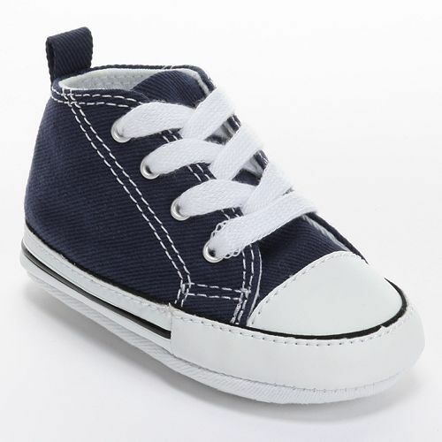 Converse All Star Navy Blue White Baby Crib Infant Shoes ...