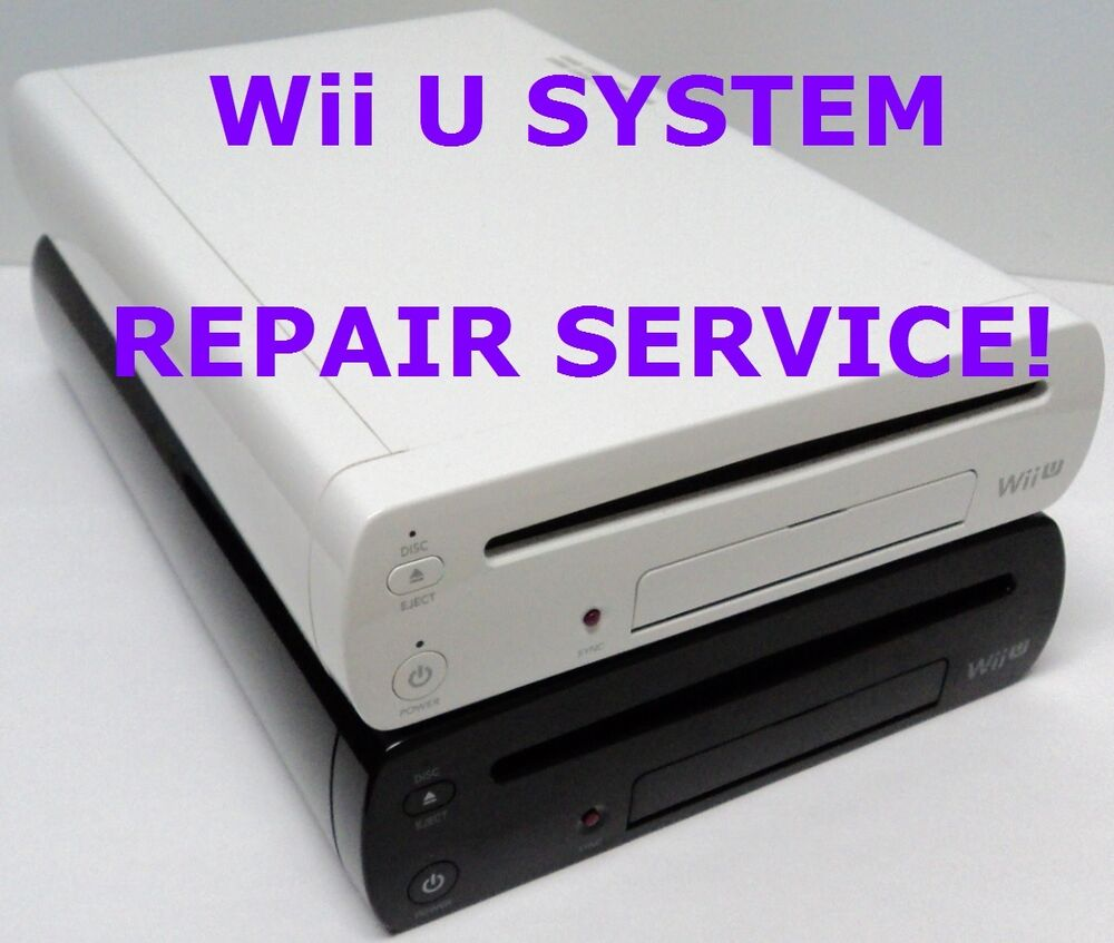 fix broken as is nintendo wii u console system parts and repair service ebay. Black Bedroom Furniture Sets. Home Design Ideas