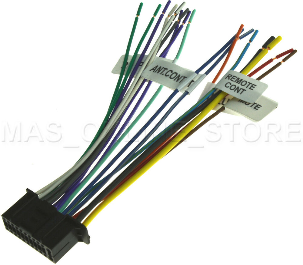22pin wire harness for kenwood ddx512 dnx5120 dnx512ex pay today rh ebay com Kenwood Car Audio Wiring Colors Kenwood Amplifier Wiring Diagram