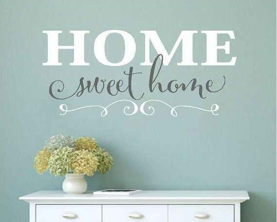 home sweet home vinyl wall decals home decor wall words stickers family love ebay. Black Bedroom Furniture Sets. Home Design Ideas