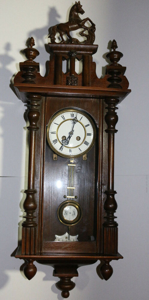 Vintage Junghans German Made Solid Wood Large Wall Clock W