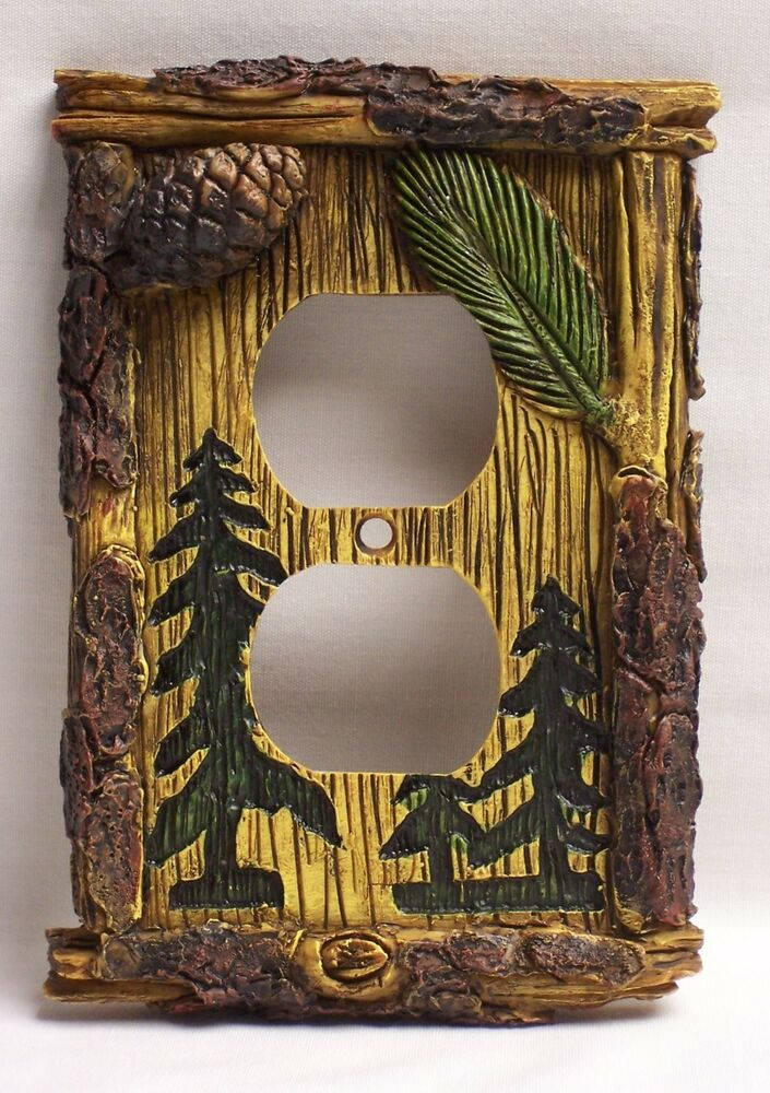 Pine Tree Outlet Plate Cover Rustic Home Amp Cabin Decor